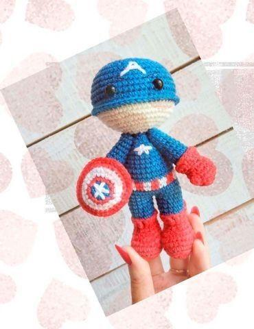 Amigurumi Homem Aranha Spiderman Vingadores - Receita em PDF no ... | 480x370