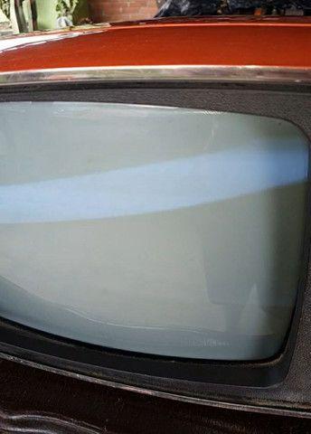 Antiga tv Philco Ford década 70 laranja vermelha original - Foto 3