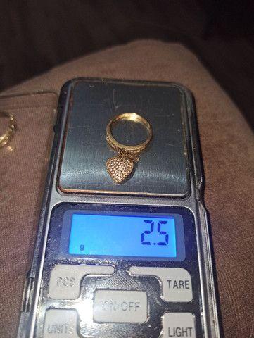 Anéis em ouro 10k (416) R$ 235.00 a grama - Foto 2