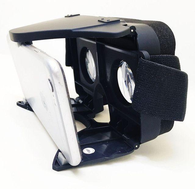Oculos Realidade Virtual 3D VR X Dobrável c/ Controle Bluetooth Oferta