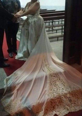 Vendo vestido de noiva e terno infantil completos os dois - Foto 3