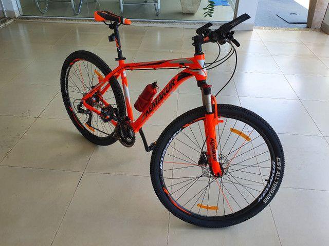 Bicicleta Kemakur na cor laranja, marca italiana, bike Nova, nunca usada - Foto 5