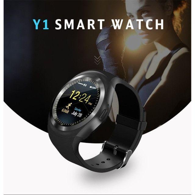 Relogio Inteligente Smartwatch V8 Android Ios Bluetooth Chip (Nova Versao Y1) Top - Foto 2