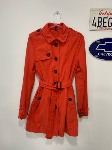 Trench coat laranja h&m