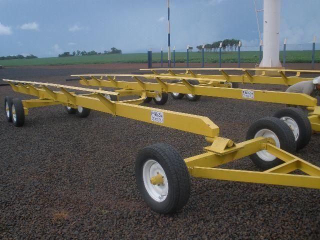 Carreta agrícola transporte de plataforma - Foto 4
