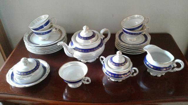 Jogo de chá de porcelana Schmidt