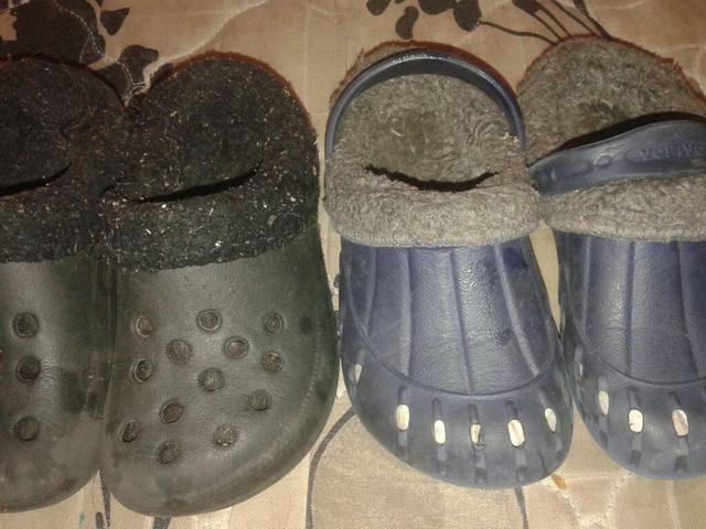 Crocs apeluciados