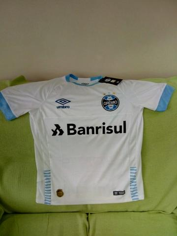 75995616f83f5 Camisa Oficial II Grêmio 2018 Branca - P - n° 7 - nova - Roupas e ...