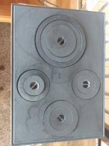 Chapa Nova de Ferro para fogão a lenha com 4 Bocas - Foto 2