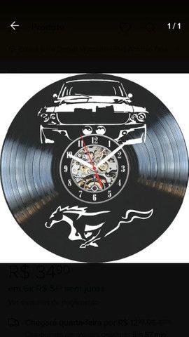 Lindos relógios de parede feito em vinil. - Foto 4