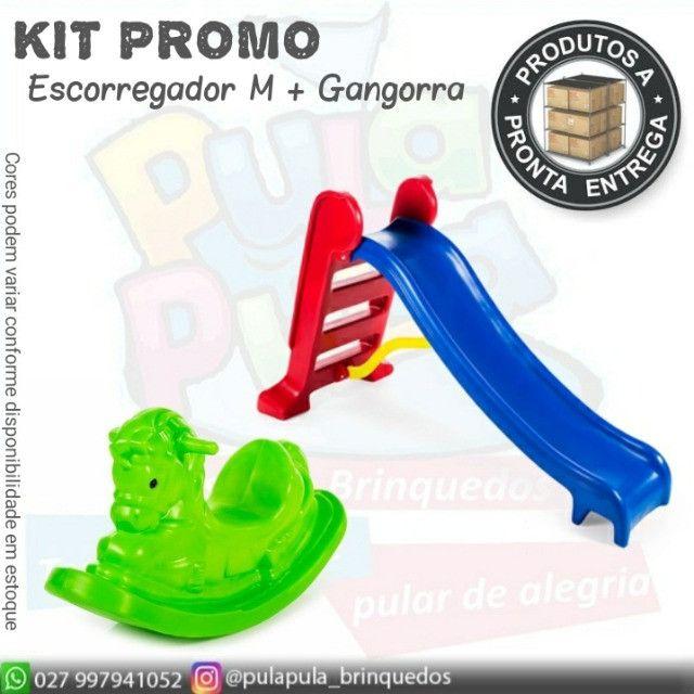 KIT de brinquedos para playground e área Kids - Escorregador E Gangorra  - Foto 6
