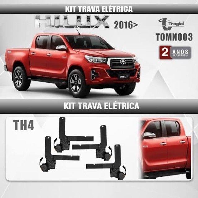Kit Trava Elétrica Toyota Hilux 2016 em Diante 4 Portas Tragial