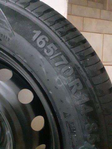 Pneu + roda Continental aro 14 - Foto 4