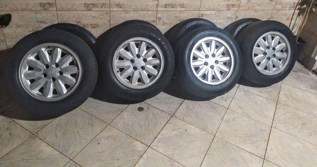 Rodas aro 15 5x112 com pneus bons