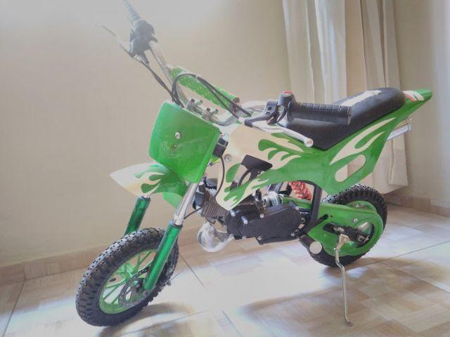 Super Mini Moto Cross Verde - 49CC