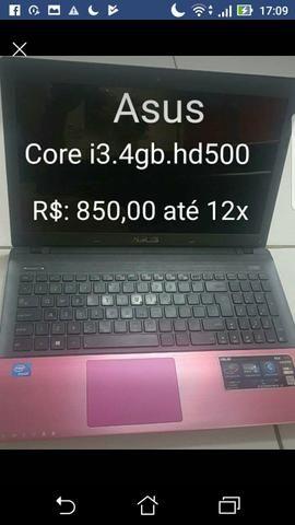 Vendo NOTEBOOK ASUS CORE I3.4GB.HD500 COM GARANTIA