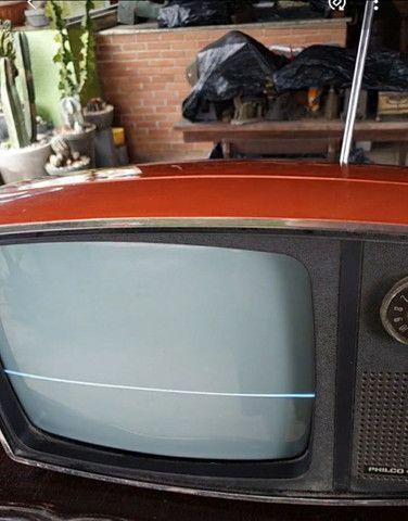 Antiga tv Philco Ford década 70 laranja vermelha original - Foto 2