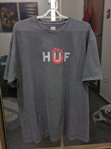 Camiseta Huf x Spitfire tamanho GG