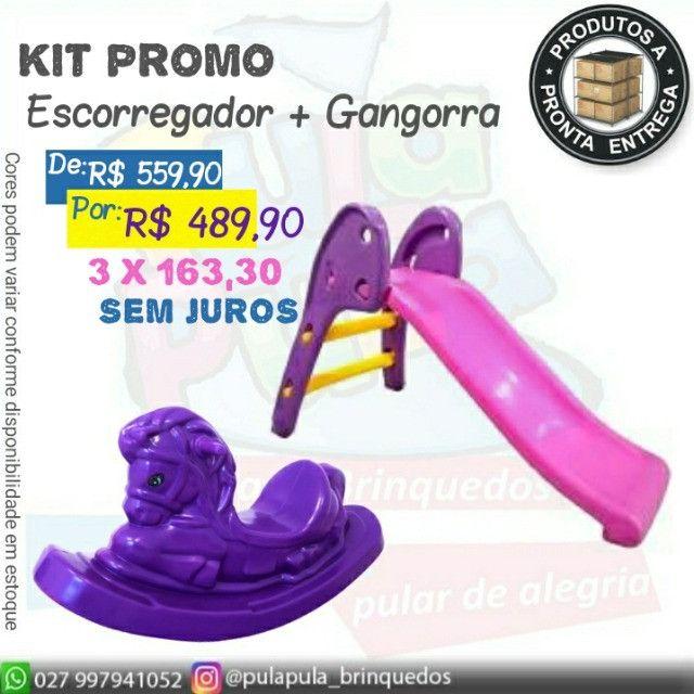 KIT de brinquedos para playground e área Kids - Escorregador E Gangorra  - Foto 2