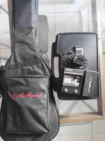 Kit guitarra mais pedaleira e transmissor  - Foto 2