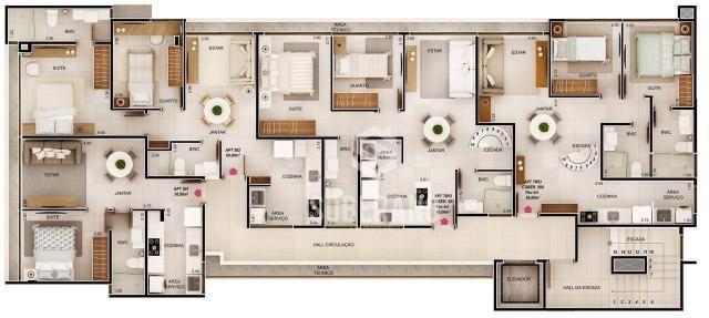 Apartamento com 1 dormitório à venda, 39 m² por R$ 240.000 - Intermares - Cabedelo/PB - Foto 7