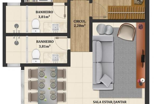 Vendo - Apartamento em fase final de construção com dois dormitórios em São Lourenço-MG - Foto 2
