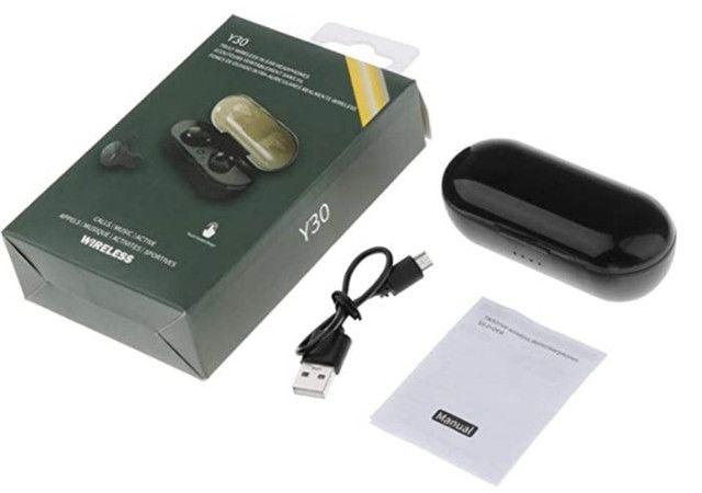 Fone de Ouvido TWS-Y30 Auricular Bluetooth 5.0 de Pareamento Automático - Foto 4