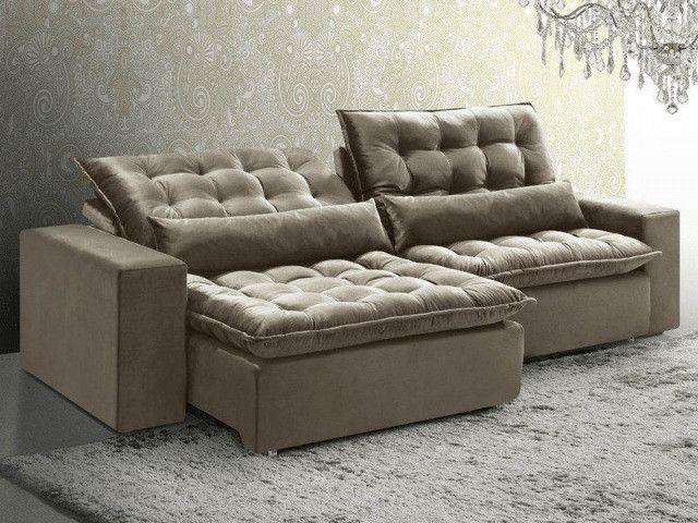 Sofá retrátil e reclinável 2,50 (Pronta entrega) - Móveis ...