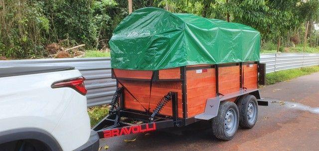 Carretinha BRAVOLLI ' MG - Reboque de alta performance com 3 anos de garantia Brasil  - Foto 5