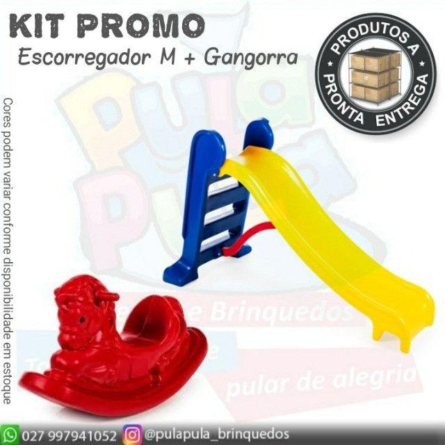 KIT de brinquedos para playground e área Kids - Escorregador E Gangorra  - Foto 5