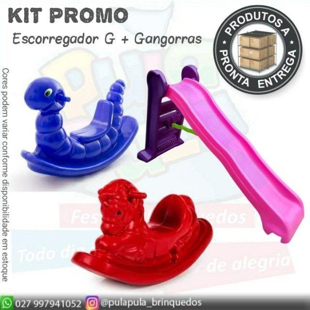 KIT de brinquedos para playground e área Kids - Escorregador E Gangorra  - Foto 4