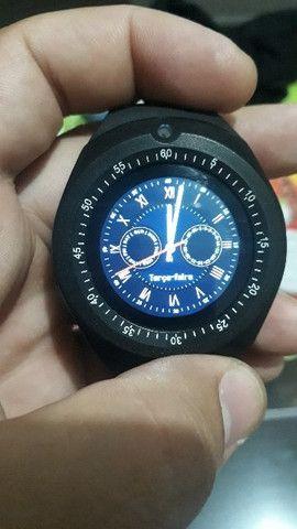 Relogio Inteligente Smartwatch V8 Android Ios Bluetooth Chip (Nova Versao Y1) Top - Foto 4