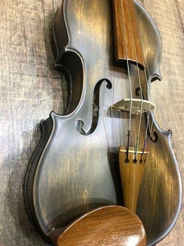 Violino 4/4 Rolim premium Madeira Araucaria Vintage Fosco Orquestra Ccb - Foto 2