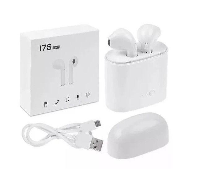 Fone Sem Fio Airbud I7S Bluetooth TWS 3-4 Horas de Música - Foto 3