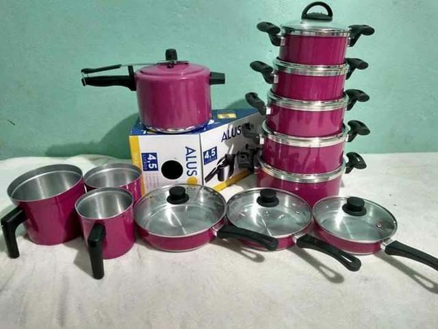 Jogo de panelas de alumínio grossso comum, preços variados. - Foto 3