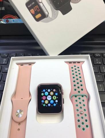 Relógio Smart iwo V6 com 2 pulseiras ( novo )