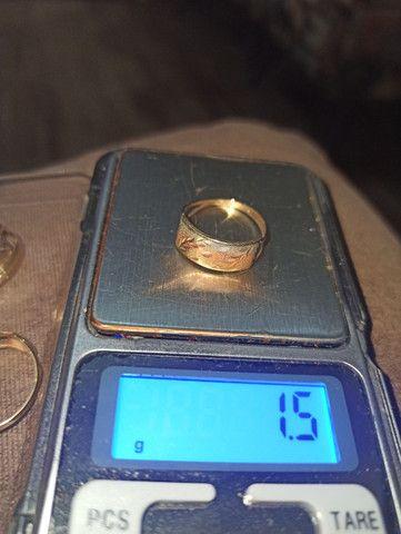 Anéis em ouro 10k (416) R$ 235.00 a grama - Foto 6