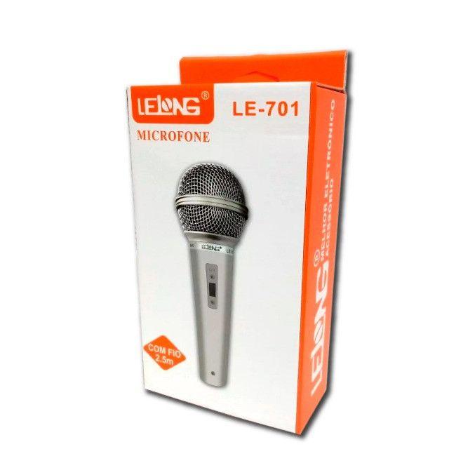 Microfone Com Fio 2.5 metros Lelong LE701 - Foto 3