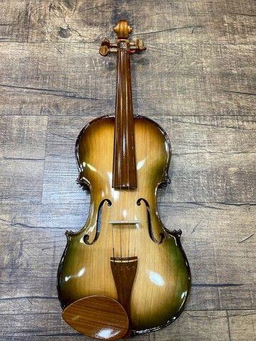 Violino 4/4 Rolim premium Serie limitada madeira Araucaria Sombrear Brilho Orquestra Ccb - Foto 4