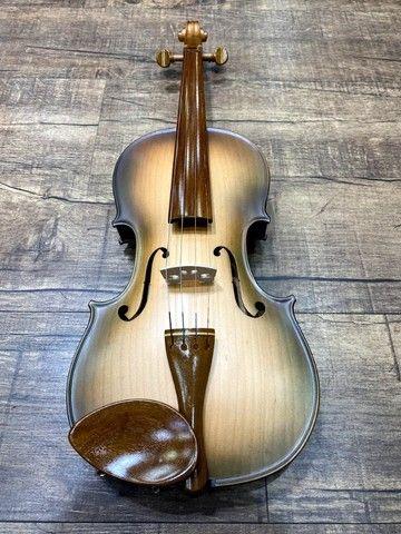 Violino 4/4 Rolim brasil premium Serie madeira nobre Araucaria Sombrear Orquestra Ccb - Foto 5