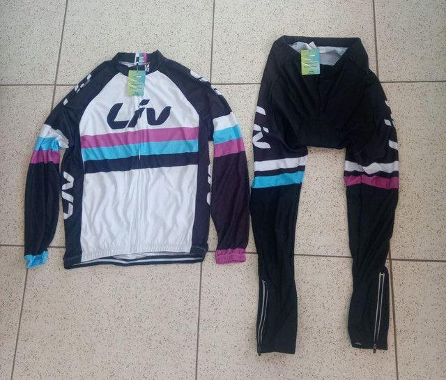 Roupa pra ciclismo feminina novas M e G - Foto 4