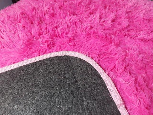 Tapete rosa para sala, 2x1.40 cm , super macio - Foto 3