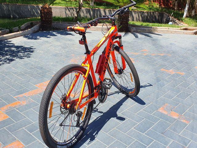 Bicicleta Kemakur na cor laranja, marca italiana, bike Nova, nunca usada - Foto 3