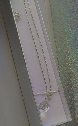 Corrente de prata com pingente - Foto 4