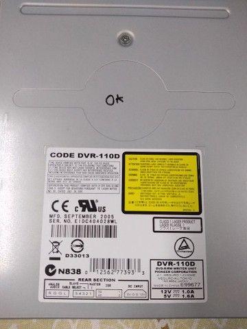 Gravador de cds e dvds Pioneer conexão ide modelo dvr 110 dvr 115 dvr 116 - Foto 2