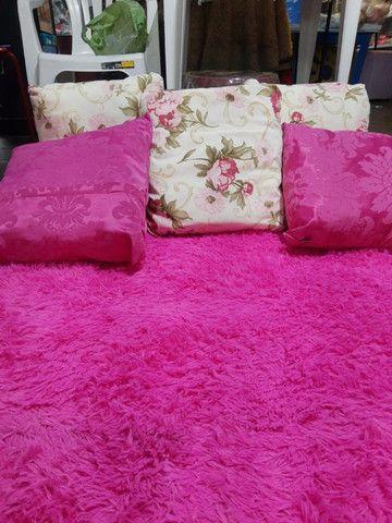Tapete rosa para sala, 2x1.40 cm , super macio - Foto 4