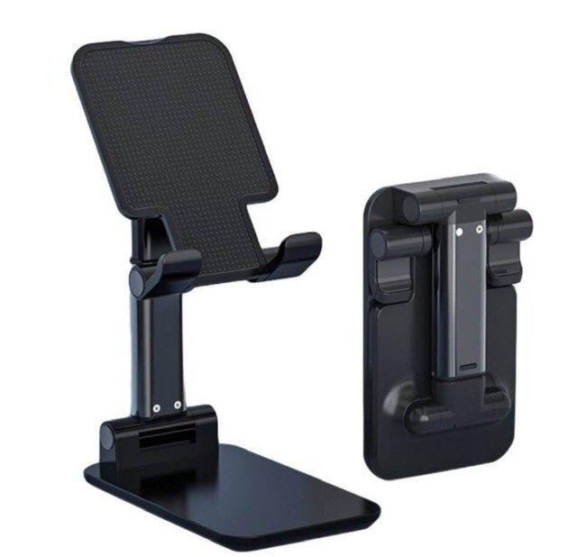 Suporte Para Celular E Tablet Dobrável Ajustável Apoio Mesa
