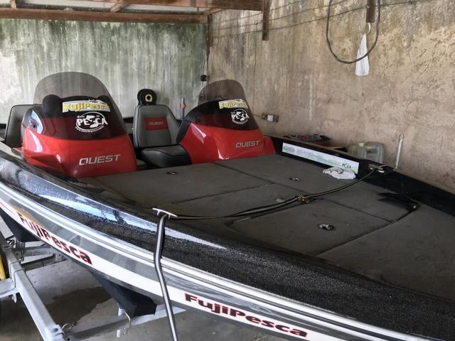 Barco Quest 268 + carreta FORTCAR 2012