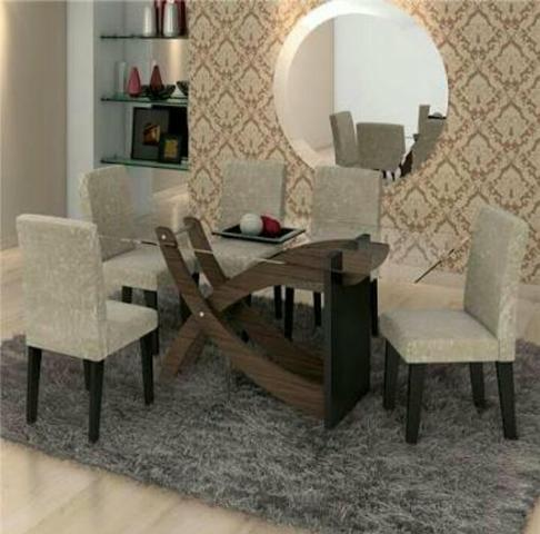 Mesa de Jantar Cimol com 6 Cadeiras