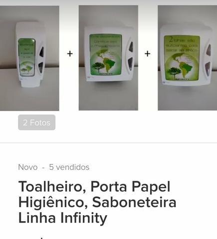 Toalheiro, porta papel higiênico, saboneteira